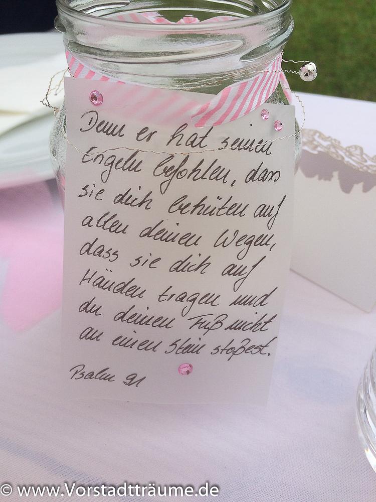 Dekoration Zur Taufe Vorstadt Träume